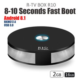 Wholesale Hd Boots - New R10 R TV Box RK3328 Smart TV Box Android 8.1 2GB 16GB Dual Band Wifi BT4.1 Fast Boot USB3.0