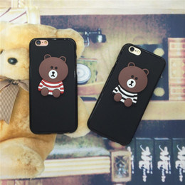 Wholesale cute silicone lg phone cases - luxury phone case for samsung galaxy s8 plus for iPhone X 7 8 Cute little Bear Chimesl Soft Silicon Cases Lovely Cartoon Cover