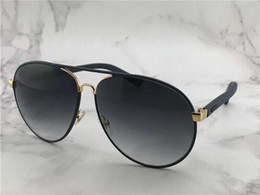 Wholesale mens aviator glasses - Cool Mens 2887 S Black Leather Oversized Aviator Sunglasses Sonnenbrille Eyewear Occhiali da sole Outdoor Summer Glasses New with box