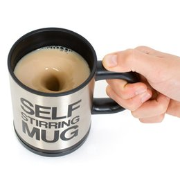 Wholesale Automatic Milk - 400 Ml Self Stirring Mug Double Insulated Automatic Electric Coffee Cups Tea Milk Mixing Drinking Cup