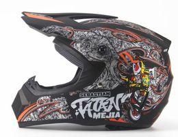 Capacete de crânio completo on-line-Motocicleta de moda pessoal capacete off-road homens e mulheres capacete mountain bike capacete full face DH padrão de caveira em declive pirata