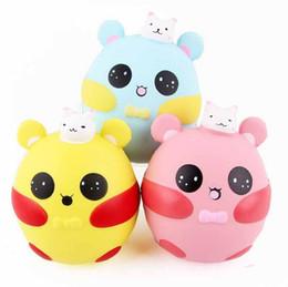 Wholesale pig rabbit - 12CM Rabbit Pig Squishy Toy Kids Birthday Gift Gags joke Toy Squeeze Slow Rising Fun Toy EEA205
