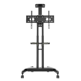 2019 стоять на экранах Mobile TV Cart Floor Stand with Adjustble shelf and Mount for 32 to 60inch up 165lbs to Flat Panel Screens and Bundle HDMI Cable дешево стоять на экранах
