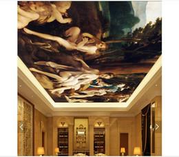 Mural do lago on-line-3d papel de parede personalizado foto teto mural papel de parede swan lake europeu-estilo sala de estar quarto zenith mural grande céu estrelado papel de parede