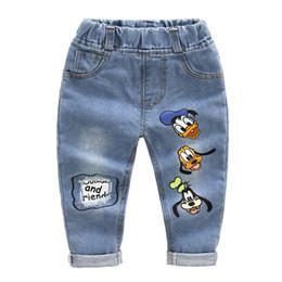 Детские джинсы для мальчиков девочки онлайн-New 2017 Baby Boys Girls Jeans Cartoon duck Baby 2-7yrs Boys Jeans  Children Clothing Kids Jeans Children Casual Pants