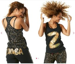 Wholesale Racerback Tank Tops - S M LWoman vest dance tops Lost In The Music Tank Racerback black color