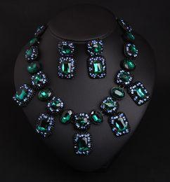 Livraison gratuite luxe design de mode collier de bijoux de mariage et boucles d'oreilles de femmes en alliage de cristal ? partir de fabricateur