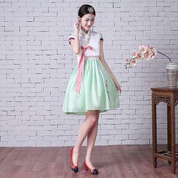 6ce0f54bb hanbok dresses Canada - Traditional Korean Hanbok Dress Female National  Costume Short Sleeve Oriantal Costume Hanbok