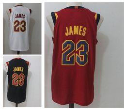 Wholesale Manning S - 23 LeBron James Men's Basketball Jerseys 2018 New season Fashion Player version Mens polo shirt White Red Black