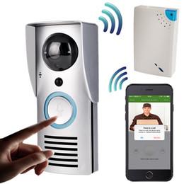 Wholesale wireless door video camera - WIFI 720P Video Doorbell Wireless Door Phone Intercom Monitor Smart Bell HD Camera PIR Motion Sensor Night Vision Unlock