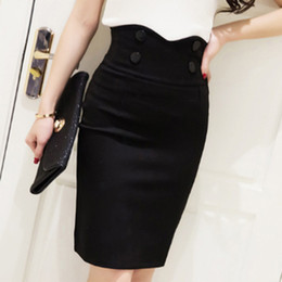6402f8af72 good quality 2018 Plus Size Fashion Lady Office High Waist Short Skirts  Womens Summer Sexy Pencil Bandage Bodycon Skirts Red Black