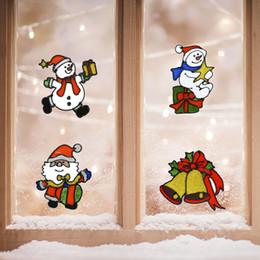 2019 виниловый виниловый винил Рождественские Украшения Окна Наклейки 12 Стилей Цепляется Санта-Клаус Снеговик С Рождеством Христовым Украшения В Помещении Стикер Стены Для Детской Комнаты
