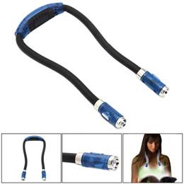Livre lampe mains libres bras flexible autour du cou idéal pour la lecture de lit ou lu dans la voiture 4 ampoules LED super lumineux ? partir de fabricateur