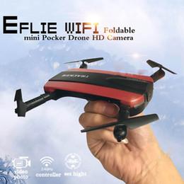 caméra rc hd Promotion Nouvelle arrivée Téléphone Contrôle JXD523 Tracker Pliable Mini Rc Selfie Drone avec Wifi FPV 720 P HD Caméra Altitude HoldHeadless Mode OTH770