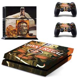 Peaux de vinyle pour ps4 en Ligne-Jack Daniels Pour PS4 Console Stickers Pour Sony PlayStation 4 Console Système de vinyle Design Decal Pour DualShock 4 Controller Skins