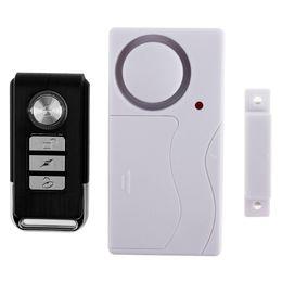 Wholesale remote control sensors - Home Security Door Window Siren Magnetic Sensor Alarm Warning System Wireless Remote Control Door Detector Burglar Alarm SAM_402
