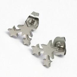 Plus récent bijoux en acier inoxydable femmes mode mignon minuscule 3 étoiles boucles d'oreilles cadeau pour les filles de l'école enfants dame ? partir de fabricateur
