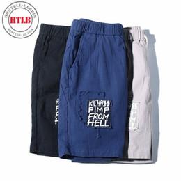 Wholesale Pattern Board - HTLB Men Summer New Brand Beach Board Shorts Men 100% Cotton Elastic Print Pattern Short Casual Drawstring Shorts Masculino