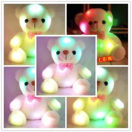 Buntes LED-Blitz-Licht-Bären-Puppe-Plüsch-angefüllte Spielwaren Größe 20-22 cm Bärn-Geschenk für Kinder Weihnachtsgeschenk füllte Plüschspielzeug an von Fabrikanten
