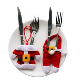 2019 cupcakes do dia de pais Decoração de mesa de Natal Hot Talheres Prataria Terno de Jantar de Natal decoração de Festa dispositivo de talheres roupas set 3 jogos / saco