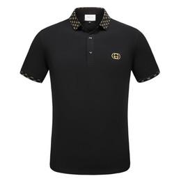 Wholesale men shirt fabric - summer fashion designer luxury brand tag clothing men fabric letter polo t-shirt turn-down collar casual women g tshirt tee shirt tops