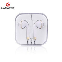 Wholesale Iphone Headphone Jacks - High quality earphone with tone line control phone headphones for Android and iPhone Headset for Jack In Ear wired With Mic Volume Control