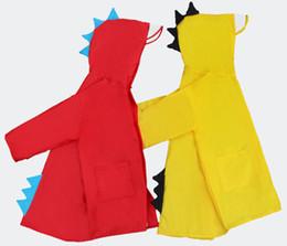 batteria coreana Sconti Piccoli bambini di dinosauro impermeabile poliestere bambino all'aperto impermeabile impermeabile poncho ragazzi ragazze Rainwear Kids Rain Coat