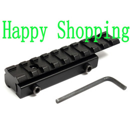 Wholesale Dovetail Weaver Rail - 11mm to 20mm Dovetail Weaver Picatinny Rail Adapter Converter Mount Airsoft Scope Base Aluminum Alloy Black