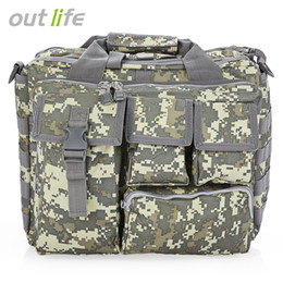 Wholesale Camera Computer Bags - Outlife Outdoor Fishing Military Tactical Bag Computer Shoulder Bags Rucksack Handbag Briefcase for Hiking 14 inch Laptop Camera