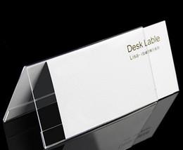 cartões do quadro Desconto Multifuncional T1.2mm 200 * 100mm cartão de mesa triângulo frente e verso display Cartão de visita preço tag quadro de etiqueta promoção de publicidade cartão de nome