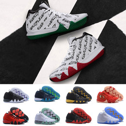 Wholesale White Confetti - BHM Confetti Obsidian Kyrie 4 CNY EP Black White Men Basketball Shoes Kyrie Irving 4s IV all-star Fall foliage mens trainer Sneakers 40-46