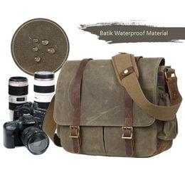 Wholesale Bolso de la cámara con bolsa de fotos Lona DSLR SLR Correa Estuche Bolso casual Bolso Messenger Confort Vintage Bolsos de los hombres