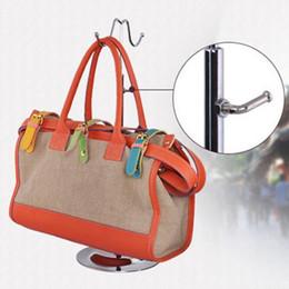 handtasche zeigt stand Rabatt Doppelhaken Gebogene Haken Licht Hängen Taschen Einstellbare Handtasche Rack Display Seidenschals Aufbewahrungstasche Haken Perücke Kleiderbügel Ständer CCA10000 10 stücke