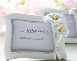 2019 рама для держателя 100 шт свадебный подарок и подарками--покачиваясь Калла Lilty перламутровые место карты держатель/ фото рамка /лот дешево рама для держателя