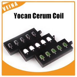 Wholesale E Cigarette Atomizer Replacement - Original Yocan Cerum coil atomizer tank replacement head coil Ceramic donut   Quartz dual coil E-Cigarettes Accessories