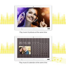 2017 10 pouces Capteur de mouvement Unique UI Surface Haute Résolution 1024 x 600 Cadre Photo Numérique Inclure 16Go USB Blanc ? partir de fabricateur