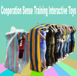 Wholesale outdoor play for kids - Outdoor Team Cooperation Sense Training Interactive Toys Sports Meeting Equipment Kids Educational Sports Games Toys for School
