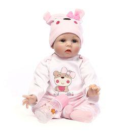 """2019 roupas de plástico para meninas 55 cm Silicone Vinyl Reborn Baby Doll Brinquedos Lifelike Pano Macio 22 """"bebês Recém-nascidos Boneca Reborn Presente de Aniversário"""