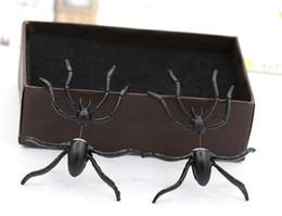 Canada Gros Punk Halloween noir araignée charme oreille boucles d'oreilles cadeau de soirée pour la partie Halloween Costume nouveauté jouets de noël parti bijoux Offre
