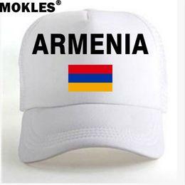 paesi bandiere rosse Sconti ARMENIA youth student Caps gratis nome personalizzato numero foto red black country nazione armeniana bandiera am uomini casual pubblicità ball cap