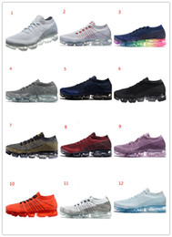 Wholesale Cheap Prices Shoes - 2018 New fashion men's Vapormax Running Sneakers Athletic Hot sale cheap lowest price Corss Hiking training Jogging Walking Outdoor Shoes