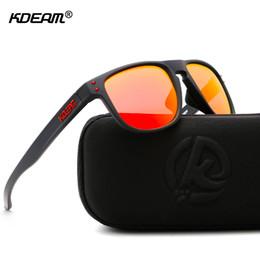 2019 определение спорта KDEAM высокой четкости TR90 солнцезащитные очки поляризованные спортивные солнцезащитные очки мужчины Polaroid объектив спортсменов ChoWith чехол дешево определение спорта