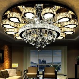 Plafoniera a LED rotonda in cristallo di lusso Arte romantica a cristallo e lampada da soffitto per illuminazione commerciale 110-240V da