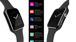 Pulsera tf online-Reloj Smartwatch Curved Screen X6 Smart watch Teléfono con ranura para tarjeta SIM TF con cámara para Samsung smartwatch smartwatch