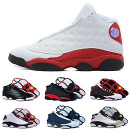 Wholesale Race Racing Games - 2018 Best Air Retro 13 Men basketball shoes Low Chutney Navy blue Pure Money Chicago black cat DMP gold Barons Flint He Got Game Sneakers