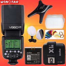 Wholesale Fuji X Pro1 - Godox V860II V860II-F TTL HSS 1 8000s Speedlite Flash + X1T Transmitter for Fuji X-Pro2 X-Pro1 X-T10 X-T20 X-T2 X-T1 X100F X100T