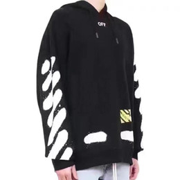 Wholesale leopard men hoodie - Men women's Fashion Long Sleeve Sweatshirts Of Hoodie Letter Printed Fleece Sweater Hip Hop Skateboard Casual White Hedging Coat HFLSW