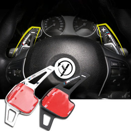 Wholesale Paddle Shift - wholesale New 2pcs High Quality Aluminum Steering Wheel Shift Paddle Shifter Extension For Bmw F30 F10 1series 2 series 3 series 5series