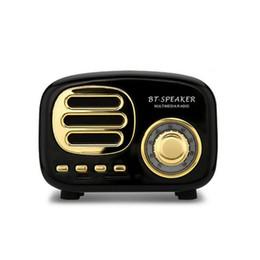 mini haut-parleur bluetooth Promotion Mini Portable Classique Rétro Sans Fil Haut-Parleur Mignon Stéréo Subwoofer Nouveau 2019 Bluetooth Haut-Parleur Lecteur de Musique Support TFcard Radio pour cadeau