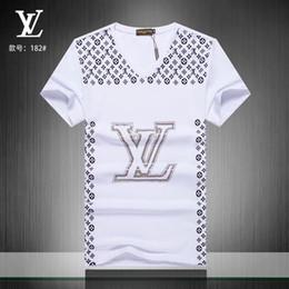 Rapaz hip hop on-line-# 0785 Chegada nova Designer de Verão Homens T Shirt Hip Hop Manga Curta Magro Tops T-shirt Moda Medusa Casual Homem T-Shirt Menino Tshirt